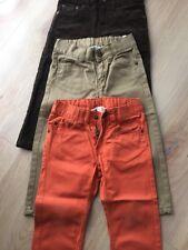 Jungen Hosen 3 Stück  H&M Braun Kaki Orange Grösse 92