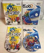 De Blob 1 & 2 Nintendo Wii Lot of Games