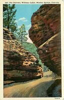 WB Postcard CO H086 Unposted The Narrows Williams Canon Manitou Springs Sanborn