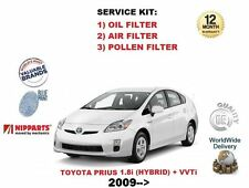 FOR TOYOTA PRIUS 1.8 HYBRID + VVTI 2009-2015 OIL AIR POLLEN 3 FILTER SERVICE KIT