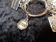 Stop thinking of it as a DIET! Stop Sign Charm for Weight Watchers Keychain!