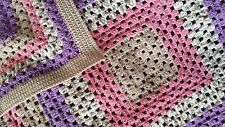 Beautiful and Soft Handmade Crochet Granny Square Knee Blanket