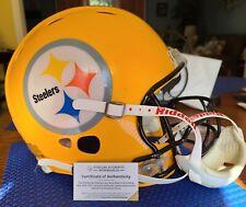 CHARLIE BATCH game used 2007 Steelers throwback helmet Steelers COA