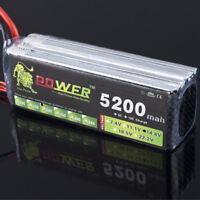 14.8V 4S 5200mAh 30C LiPO Battery XT60 for RC Model Heli Backup Li-Po battery