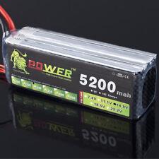 5200mAh 4S 14.8V 30C Lipo battery pack for RC Model Heli Backup Li-Po battery