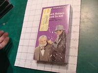 Factory Sealed VHS: Sherlock Holmes Dressed to KIll: 72min;