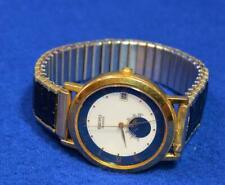 Vintage Rare Seiko 6F22 Moon Phase date Quartz Watch  runs new battery