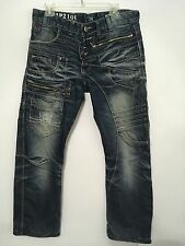Japrag 34x 29 Denim Japan Design Jp 2104Distressed Blue Mens Size