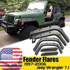 Fender Flares Extended Covers Trim For 1997-2006 Jeep Wrangler TJ Unlimited LJ