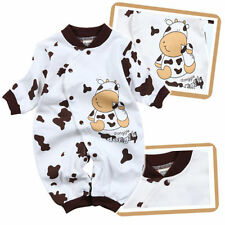 Newborn boy Romper One Piece Baby clothes Infant Boys cow Outfit Clothes 12-18M