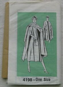 Vintage Cape Sewing Pattern*ONE SIZE*Mail Order *UNCUT/FF*retro 60s*pockets