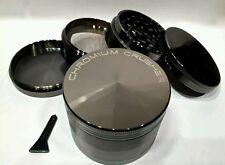 "Heavy Duty Titanium Chromium Crusher 2.5"" 4pc Spice Herb Grinder hand muller"