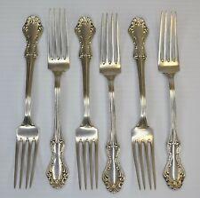 ( 6 ) National Silver Co. Princess Elizabeth Pattern  Sterling Silver Forks
