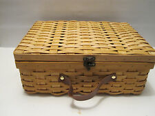 Suitcase Style Picnic Basket With Lid