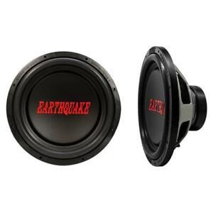 "Earthquake Sound TremorX-154 1500 Watt 4 Ohm Single SVC 15"" Car Subwoofer (pair)"