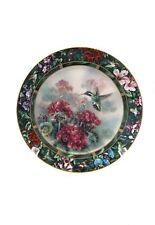Beautiful Lena Liu Hummingbird Decorative / Commemorative Plate Numbered #5
