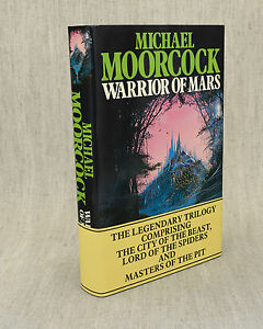 WARRIOR OF MARS MICHAEL MOORCOCK WITH ADVERTISING BAND 1981 1ST ED HC IN DJ