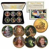 WIZARD OF OZ Kansas Quarters 24K Gold Clad 6-Coin Set with 6-Coin BOX