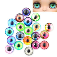 20* 10MM/16MM/20MM Glass Eyes Kit For Needle Sewing Felting Bear DIY Doll Crafts