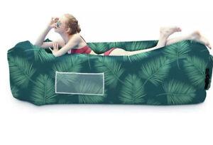 New In Bag Inflatable Lounger Air Sofa Hammock-Portable Anti-Air Leaking Design