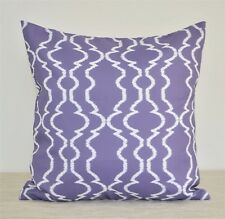 """Purple/Violet WATERPROOF OUTDOOR Patio Pillow cover 18"""" Geometric Cushion cover"""