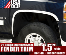 99-06 Chevy Silverado GMC Sierra 1500 2500 HD Avalanche Chrome Fender Trim