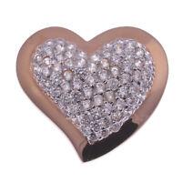 Herz Ketten-Anhänger echt Silber 925 Sterling rosévergoldet Zirkonia rosegold