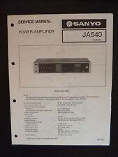 Service Manual Power Amplifier Sanyo JA 540