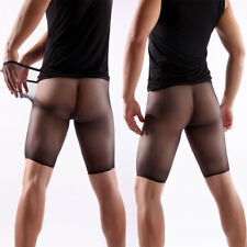 Men's Shiny Pantyhose Luxury Pouch Sheer Stockings Ultra-thin Tights Underwear