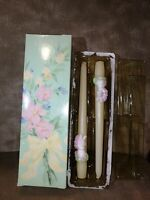 """Vintage 1982 Avon Easter Surprise Bunny Garlandia Scented 10"""" Taper Candles 2 Pc"""