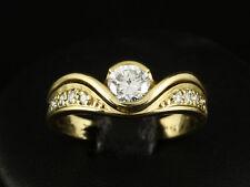 Wertvoller Brillant Ring 0,65ct (Gravur) Goldschmiedearbeit  750/- Gelbgold