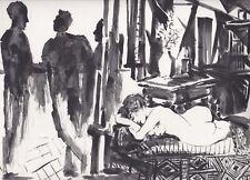 """1954s PICASSO Duble face Heliogravure Print """" et la Comedie Humaine """""""