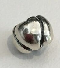 Authentic Trollbeads 11224 HEARTS BIG Bead Silver ($45) Retail