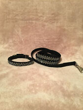 Brilliant Swarvoski Crystal Custom Handmade DOG COLLAR AND PET LEASH SET RV $225