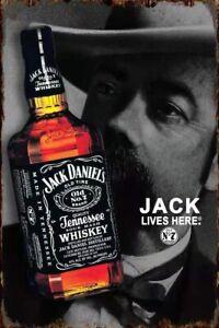 Bild Retro Blechschild Bar Whiskey 30 x 20 cm Wandbild Bilder 2307