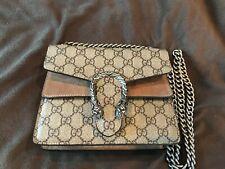 Gucci Dionysus GG Supreme Shoulder Bag Beige.