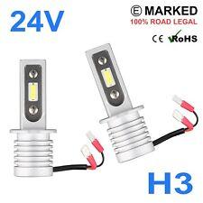 2 x 24v LED H3 Headlight Hella Spot 320FF HGV Truck Xenon White PK22s