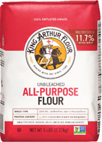 King Arthur All-Purpose Flour Unbleached 5 LB Free Same Day Shipping