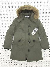 Girl's Insulated Parka Coat by Coffeeshop Kids -Olive - Size Large (10-12)