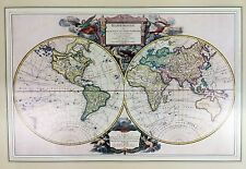 Large Limited Edition Print Antique World Globe Map