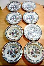 "Antique Ashworth Brothers/LS&S H&C Chinese Pattern 16210 8 Soup Bowls  8"" dia."