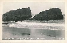 RPPC Nelscott, Oregon Triangle Rocks real photo Postcard