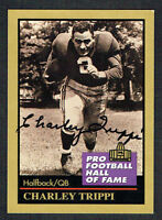 Charley Trippi #140 signed autograph 1991 Enor Pro Football Hall of Fame Card
