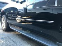 fits SILVERADO / SIERRA 14-19  EXTENDED CAB BODY SIDE MOLDING STAINLESS Trim