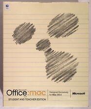 Microsoft OFFICE MAC V.X With 2004 Upgrade Disc Software Mac OS X DVD CIB Boxed