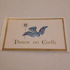Vintage Greeting Card Christmas New  Bird Peace On Earth