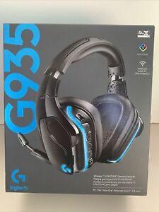 NIB Logitech G935 Wireless DTSX 7.1 Surround Sound LIGHTSYNC RGB Gaming Headset