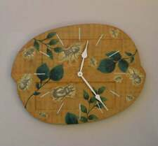 Unique Wall Clock Hand-painted With Decoupaged Insects Bugs Upcycled Reclaimed