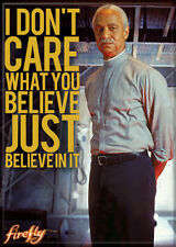 "Firefly/Serenity Photo Quality Magnet: Book ""I Don't Care What You Believe.."