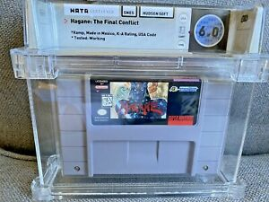 1995 SNES Super Nintendo Hagane: The Final Conflict Graded WATA 6.0 Cart Only